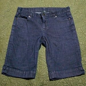 J. Crew Size 4 dark denim Bermuda Shorts